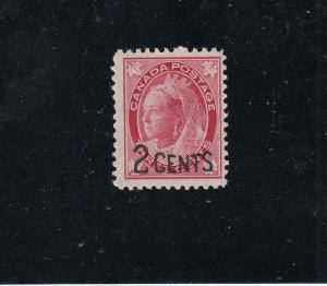 CANADA KK5 # 87-88 FVF-MNH 2 on 3cts  QV PROVISIONAL ISSUES /1899 CAT VALUE $120
