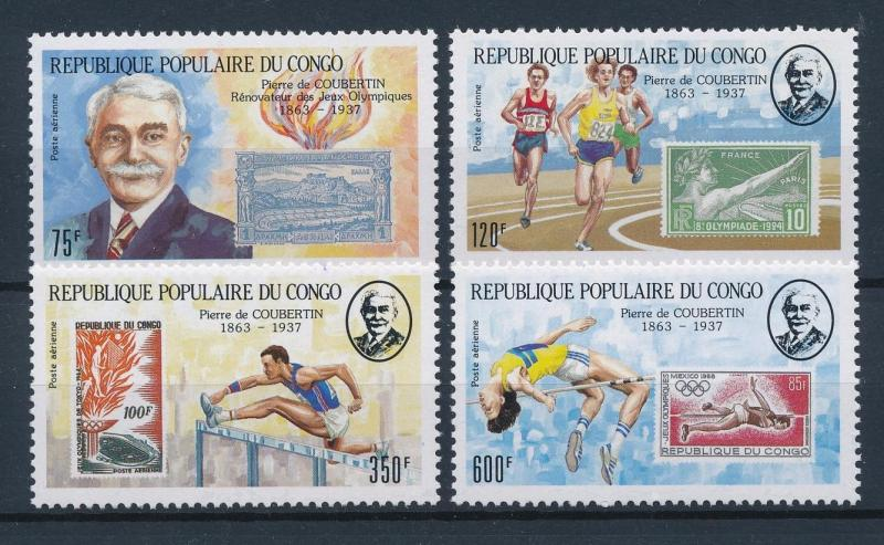 [55366] Congo Brazzaville 1987 Olympic games Athletics Stamps on stamps MNH
