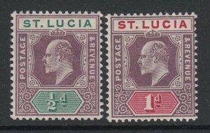 St. Lucia, Scott 50-51 (SG 64, 66), MHR