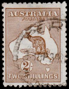 Australia Scott 52, Brown (1916) Used F-VF, CV $15.00 M