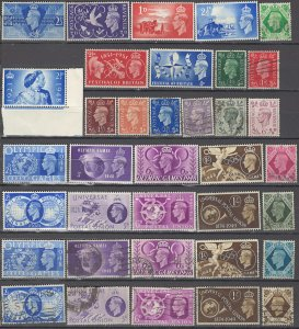 COLLECTION LOT OF #1070 GREAT BRITAIN 36 MNH/MH/USED STAMPS 1937+ CV+$20