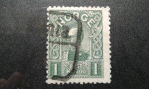 Norway #67 used die B e203 7529