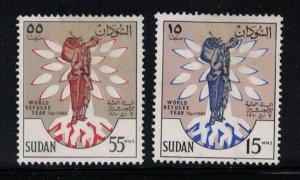 Sudan # 128-129  1960   MH    SCV $ 1.00