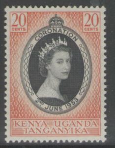 KENYA, UGANDA & TANGANYIKA SG165 1953 CORONATION MNH