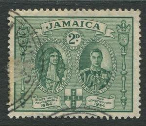 Jamaica -Scott 130 - KGVI Definitive -1945 - Used - Single 2p Stamp