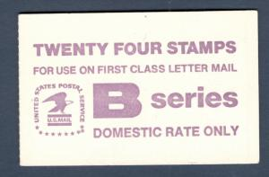 BK136 Eagle B Stamps Booklet Of 24 Mint/nh Selling @ Face FREE SHIPPING