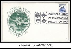 USA - 1996 SANDICAL EXPO / 100yrs of TRANSPORTATION FOLDER with CANCELLATION