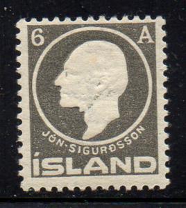 Iceland Sc 89 1911 6 aur Jon Sigurdsson stamp mint