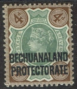 BECHUANALAND PROTECTORATE 1897 QV GB 4D