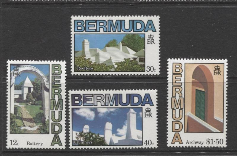 Bermuda - Scott 461-64 - Architecture Issue-1985 - MNH - Set of 4 Stamps