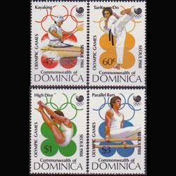 DOMINICA 1988 - Scott# 1069-72 Olympics Set of 4 LH