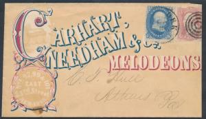 #63, #65 CARHART, NEEDHAM & Co. MELODEONS MULTICOLOR ADVT COVER SCARCE BR1401