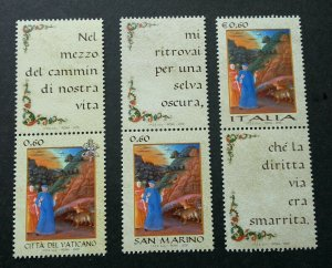 Vatican Italy San Marino Joint Issue Language Painting 2009 (stamp margin) MNH