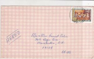 chile stamps cover ref 19529
