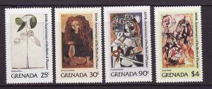Grenada-Sc#1046-9-unused NH set-Paintings-Picasso-1981-