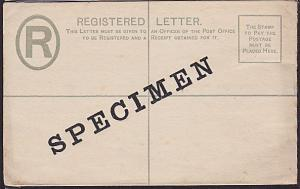 SOUTHERN NIGERIA QV 2d registered envelope optd SPECIMEN....................1462