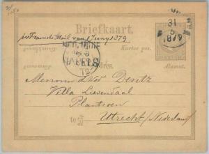 74867 - DUTCH INDIES - POSTAL HISTORY - STATIONERY CARD  H & G  # 3  1879