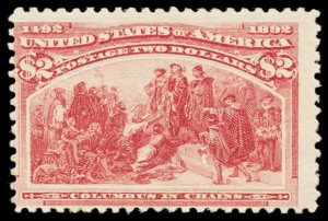 U.S. COLUMBIAN ISSUE 242  Mint (ID # 103385)
