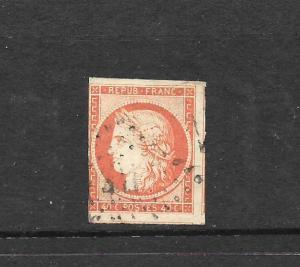 FRANCE  1849-52 40c   CERES   IMPERF  FU  SG 14 Sc 7
