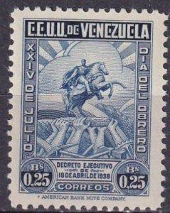 Venezuela #344 F-VF Unused CV $6.50 (Z3244)