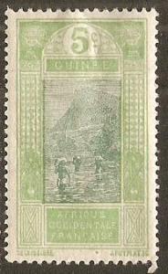 1913 French Guinea Scott 66 Ford at Kitim MH hinge thin
