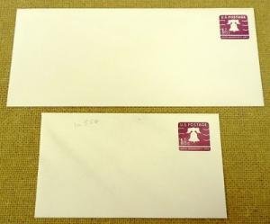U556 U.S. Postage Envelope lot of 2