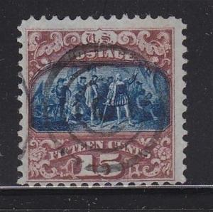 119 F-VF fancy cancel nice color cv $ 250 ! see pic !