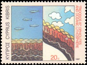 Cyprus #693-695, Complete Set(3), 1987, Never Hinged
