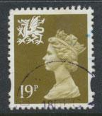 Great Britain Wales  SG W71 SC# WMMH58 Used  see details 1 right band