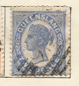 Queensland 1895 Early Issue Fine Used 2d. NW-113700