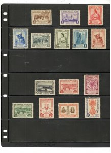 PERU COLLECTION ON STOCK SHEET, ALL MINT