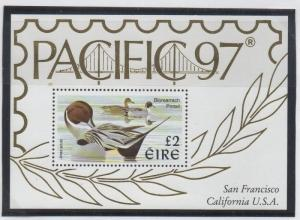 Ireland Sc 1067 1997  £2 Pintail Duck Pacific 97 stamp sheet mint NH