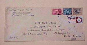 SAUDI ARABIA  AIR LABLE TIED KLM 1960's TO USA