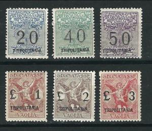 Tripolitania Segnatasse Per Vaglia Sas 1-6 MH F/VF 1924-26 SaCV €3,000.00