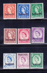 Great Britain Offices In Morocco 583-591 Set MNH, Tangier