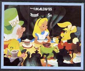 Maldive Islands 1980 Alice in Wonderland m/sheet unmounte...