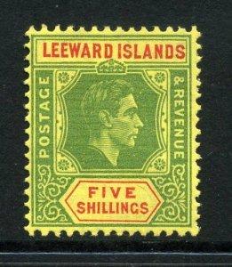 Leeward Islands 1938 KGVI 5/- chalk paper SG 112 mint