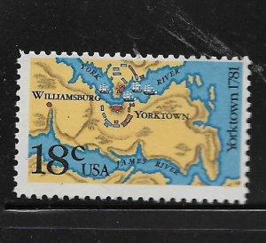 UNITED STATES, 1937, MNH, YORKTOWN 1781