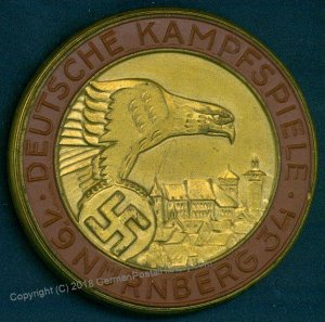 3rd Reich Germany 1934 Nuremberg Kampfspiele Rally War Games Participants  96241