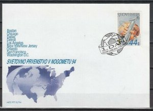 Slovenia, Scott cat. 197. USA World Cup Soccer issue. First day cover. ^