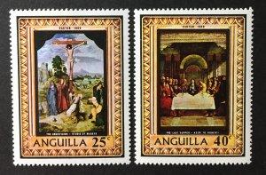 Anguilla 1969 #68-9, MNH(see note)