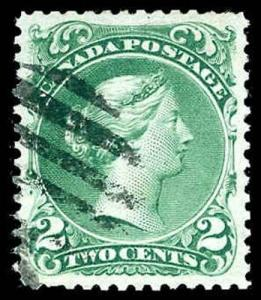 CANADA-f-a-1851-1899 ISSUES (TO 88c) 25i  Used (ID # 85088)