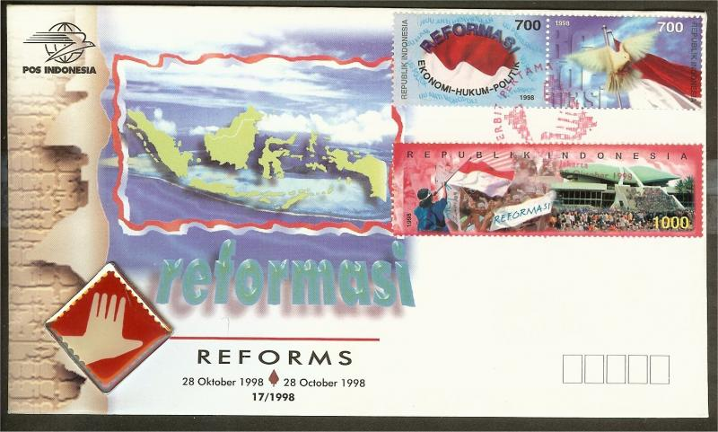 Rep. Indonesia FDC 1910-1912 blanco (1998) [JS150]