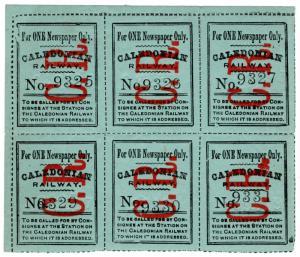 (I.B) Caledonian Railway : Newspaper Parcel (single)