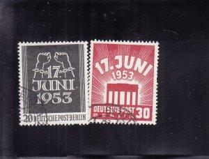 Germany-Berlin: Sc #9N99-100, Used (S18430)