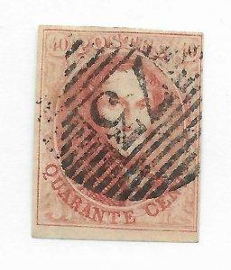 Belgium #12 Small Thin - Used - Stamp CAT VALUE $150.00