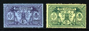 NEW HEBRIDES 1911 British Currency 2s. & 5s. Top Values SG 27 & SG 28 MINT