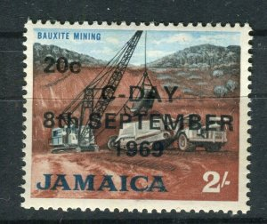 JAMAICA; 1969 early Decimal Currency surcharged issue MINT MNH 20c. value