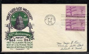 US #924-3 Telegraph Cachet Craft Staehle cachet addressed
