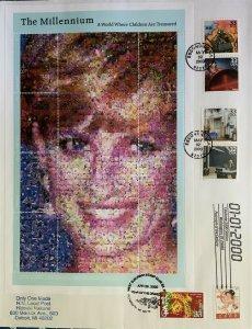 HNLP Hideaki Nakano 3191 Celebrate Century Princess Diana Photomosaic Grenada